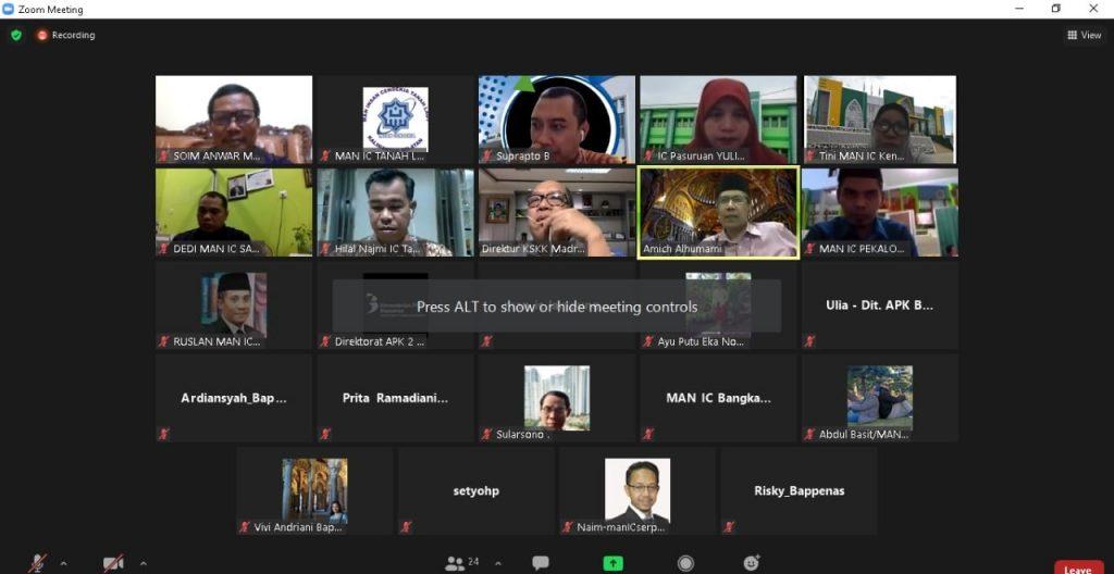 Audensi Virtual dengan Kementerian PPN/ BAPPENAS RI
