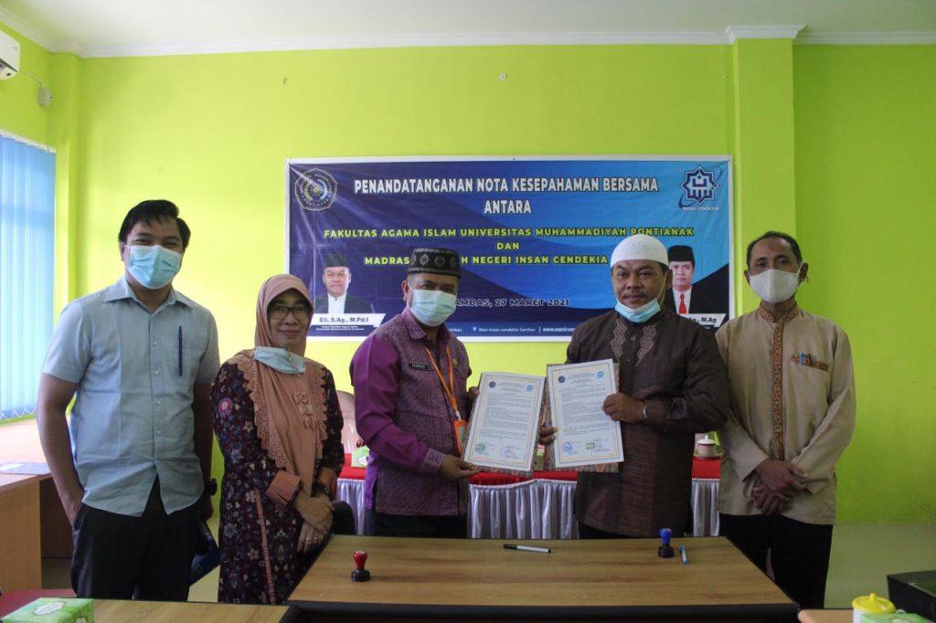 Penandatangan Mou antara Manicsa dengan Universitas Muhammadiyah Pontianak