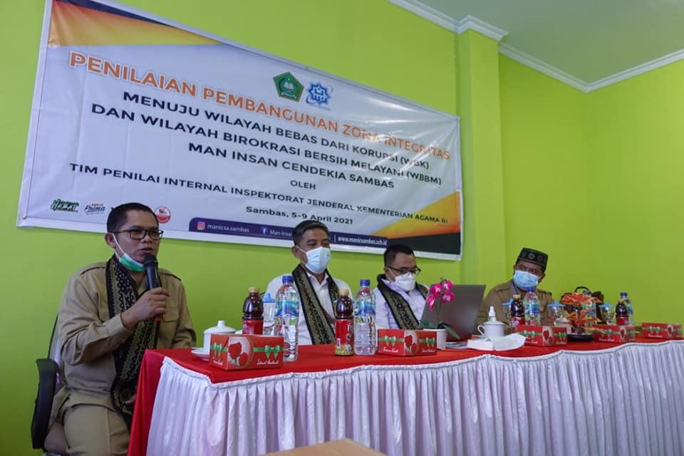 Dalam Rangka Manicsa Menuju WBK & WBBM, Tim Penilaian Pembangunan Zona Integritas Melakukan Pengecekan pada 6 Area